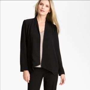Eileen Fisher Black Open Tropical Suiting Jacket